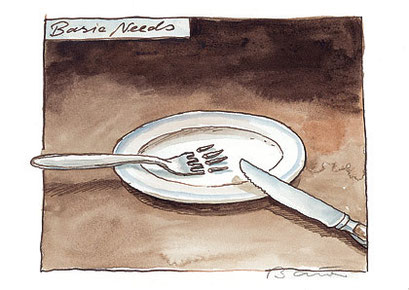 Peter Bauer, Rostock »Basic Needs« (Ausgezeichnet mit dem Swiss Cartoon Award 2004)