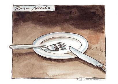 Peter Bauer, Rostock, »Basic Needs« (Ausgezeichnet mit dem Swiss Cartoon Award 2004)