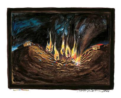 Ohne Titel (Feder, Tusche, Aquarell, 26 x 32 cm)