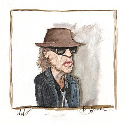 Peter Bauer, Rostock Karikatur »Udo« (Udo Lindenberg)