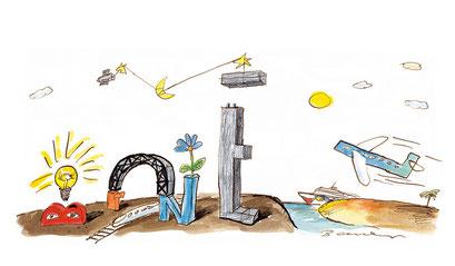 Peter Bauer, Rostock, Cartoon für das Unternehmen Brunel, Bremen