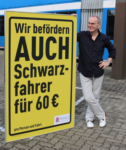 Peter Bauer, Rostock, City-Light-Plakataktion für die Rostocker Straßenbahn AG