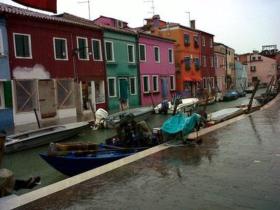 Burano, dans la lagune de Venise