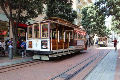 Les célèbres tram de San Francisco
