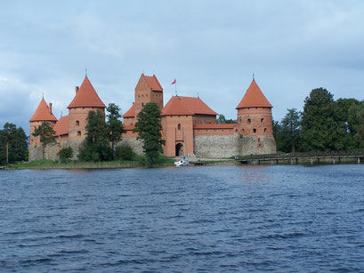 Le Château de Trakaï, Lituanie