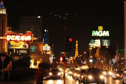 Les illuminations de la ville de Las Vegas