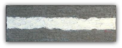 TRACE - 60 x 20 cm - 2016 - Acrylique et enduit sur toile de lin