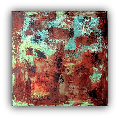 CORROSION - 60 x 60 cm - 2017 - Acrylique, sable, pigments, poudre de marbre sur toile de lin