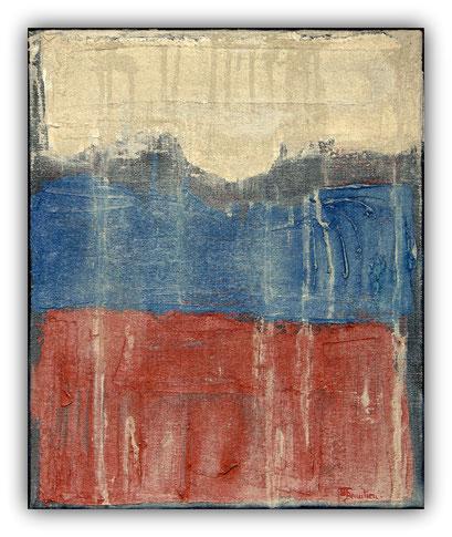 TANNA - 38 x 46 cm - 2017 - Acrylique et enduit sur toile de lin