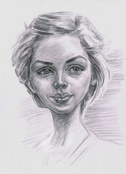 人気の肖像画人物デッサン人物画8