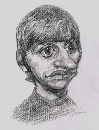 人気の肖像画人物デッサン人物画11