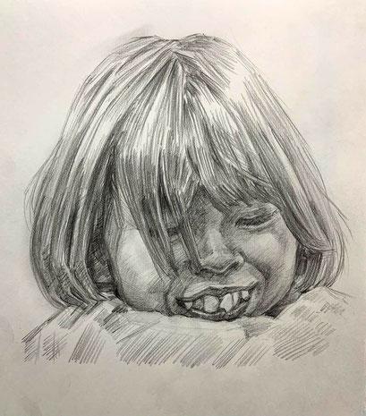 人気の肖像画人物デッサン人物画4