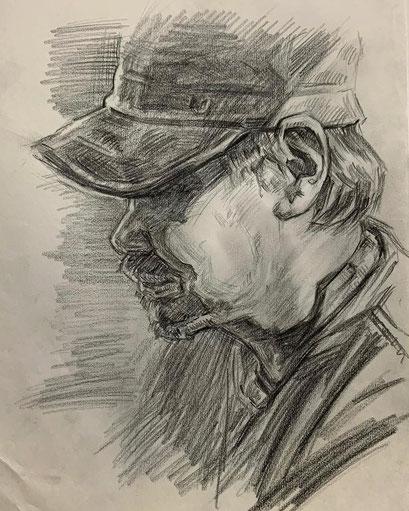 人気の肖像画人物デッサン人物画10