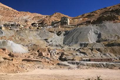 ... seit 500 Jahren werden hier Minen in den Berg getrieben