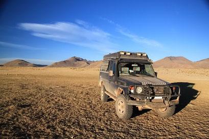 Übernachtungsplatz im Altiplano bei der Laguna Chica