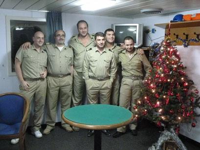 Neujahrsparty mit den Offizieren