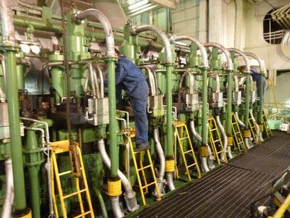 Wartungsarbeiten an den Zylindern