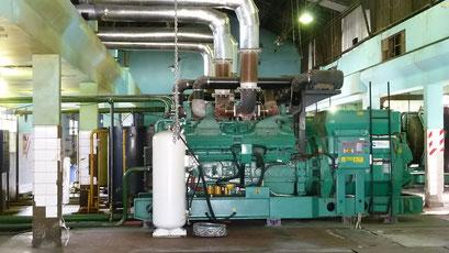 ... röhren Tag und Nacht die Dieselgeneratoren