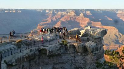 Warten auf den Sonnenuntergang am Grand Canyon