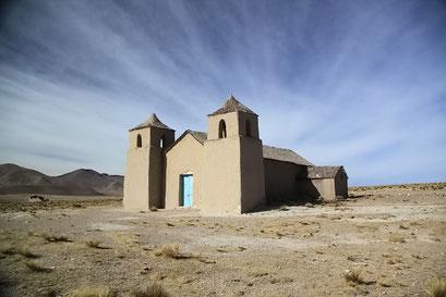 Adobe-Kirche im Altiplano
