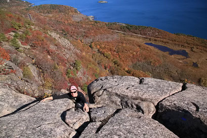 Klettersteig am Champlain Mountain, Acadia N.P., Maine
