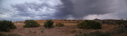 Bosco Petrificado N.P. - Sturm über der Estancia La Paloma