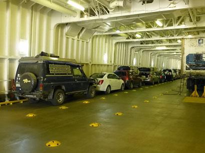 Verschiffung von Skagway nach Haines, Alaska