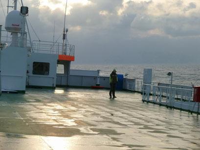 Auf der Nordsee...