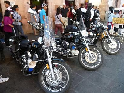 Polizei-Motorräder - nein, keine Harleys, aber fast...