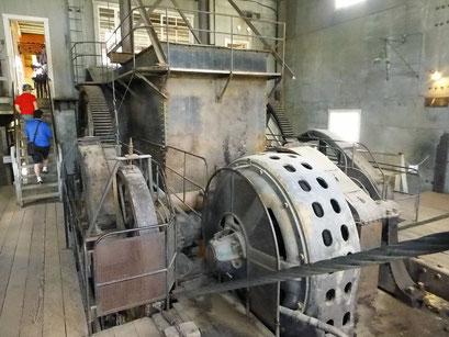 Der Lärm der Maschine war meilenweit zu hören, Dredge Nr. 4, Dawson City, Kanada