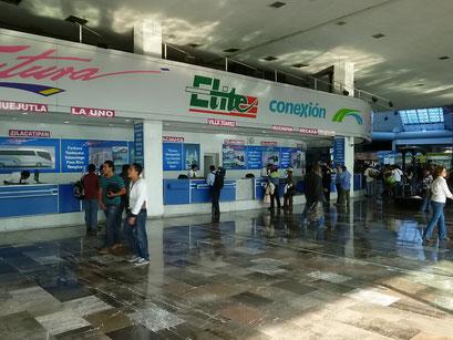 Ticketschalter wie am Flughafen
