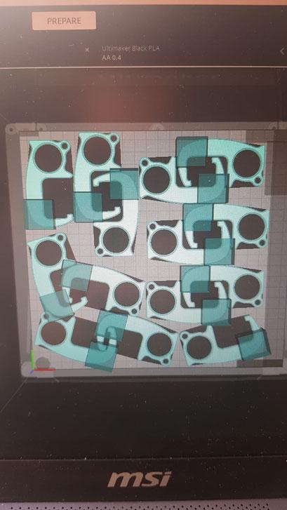 Testen met supportblokkers, en 100% infill op bepaalde stukken van het ontwerp