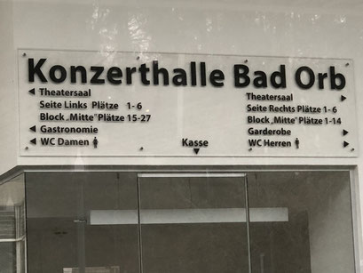 Konzerthalle Bad Orb - Kasse