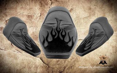 Soft Tail Flammen Sitz Kundenauftrag