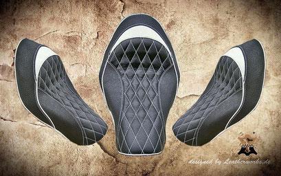 Black&White Sporty Sitz im Leder/Kunstleder Mix Kundenauftra
