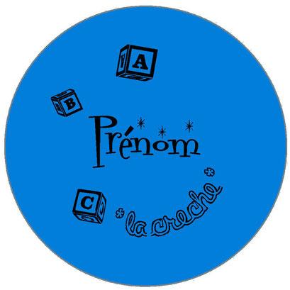badge prénom professionnel bleu