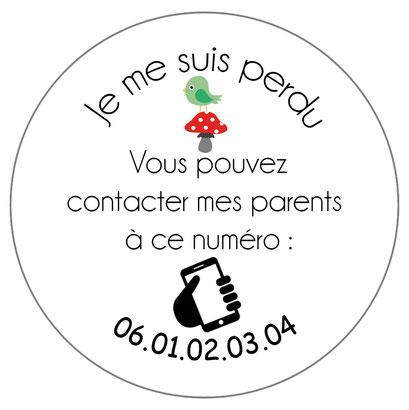 badge identification enfant perdu voyage