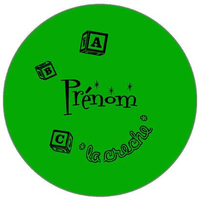 badge prénom professionnel vert