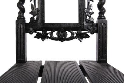 Stoel design 017 - zitting van gerecycled hardhout