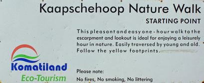 19.05.2014 Wanderung auf dem Kaapschehoop Nature Walk in Begleitung von 3 Hunden