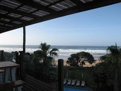 31.05.2014 Frühstück im Ocean View Hotel Coffee Bay, direkt am Meer