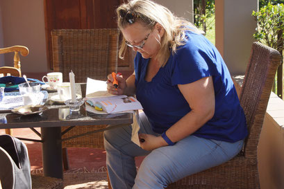 27.05.2014 Studieren der Route zu den Drakensbergen (Royal Natal National Park)