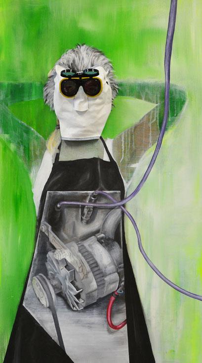 ♥-Maschine, 2013, Acryl auf Leinwand, 80 x 140 cm