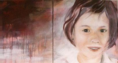 Rebecca, 2012, Acryl auf Leinwand, 30 x 30 cm