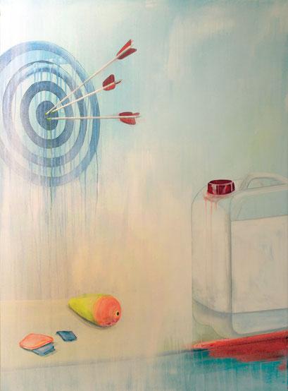 TOXIC FISCHING, 2016, Acryl auf Leinwand, 80 x 110 cm
