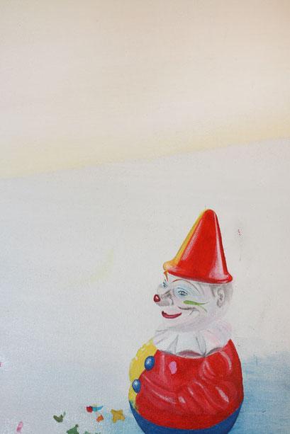 Ausschnitt aus Die Zähmung, 2014,  Acryl auf Leinwand, 300 x 200 cm