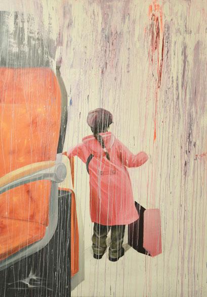 SITUATION XY, 2013, Acryl auf Leinwand, 210 x 150 cm