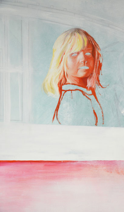 Ausschnitt aus M.A.I., 2012, Acryl auf Leinwand, 210 x 150 cm
