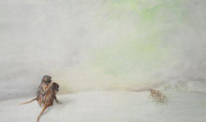 Grüne Welt, 2012, Acryl auf Leinwand, 150 x 90 cm