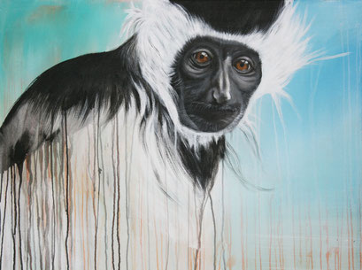 STUMMER BEOBACHTER, 2016, Acryl auf Leinwand, 90 x 80 cm